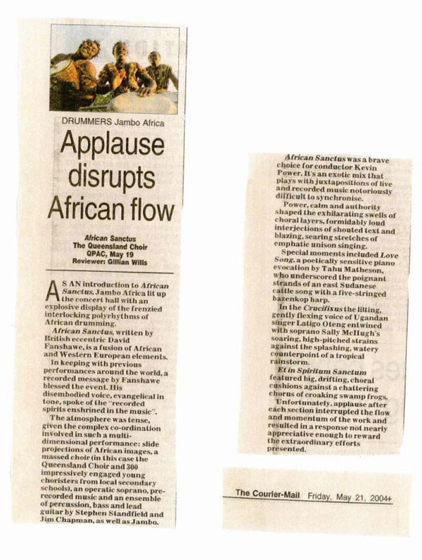 Applause disrupts African flow