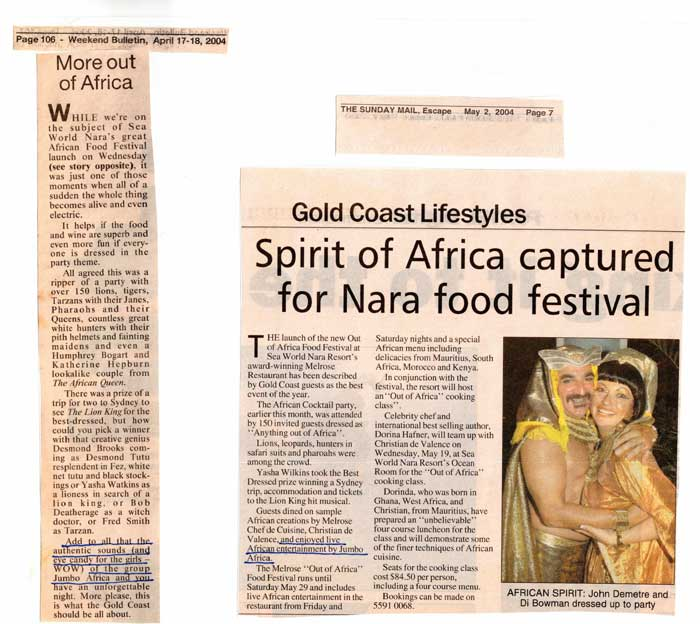 Spirit of Africa captured for nara food festival