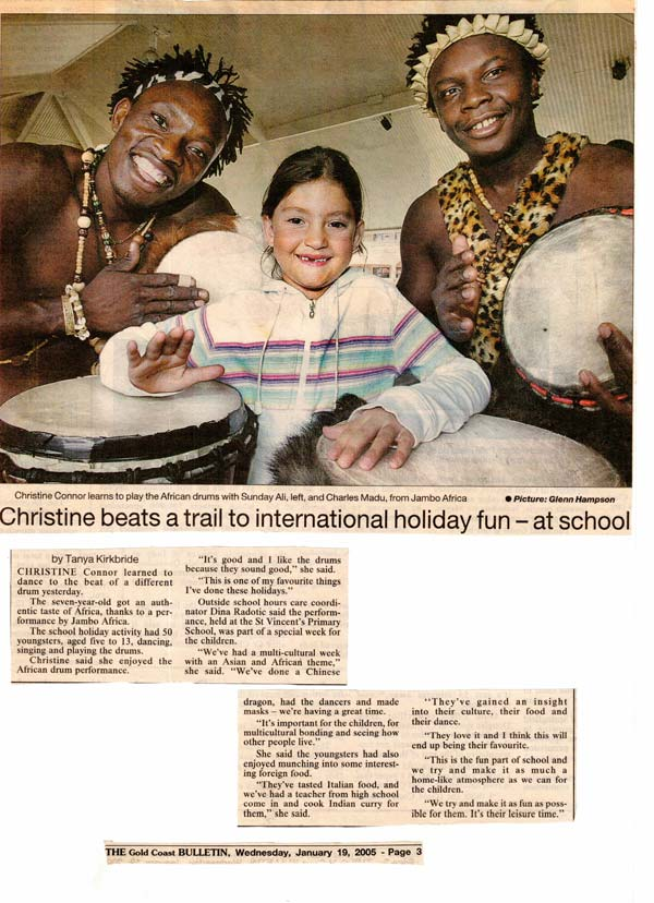 Christine beats a trail to international holiday fun – at school