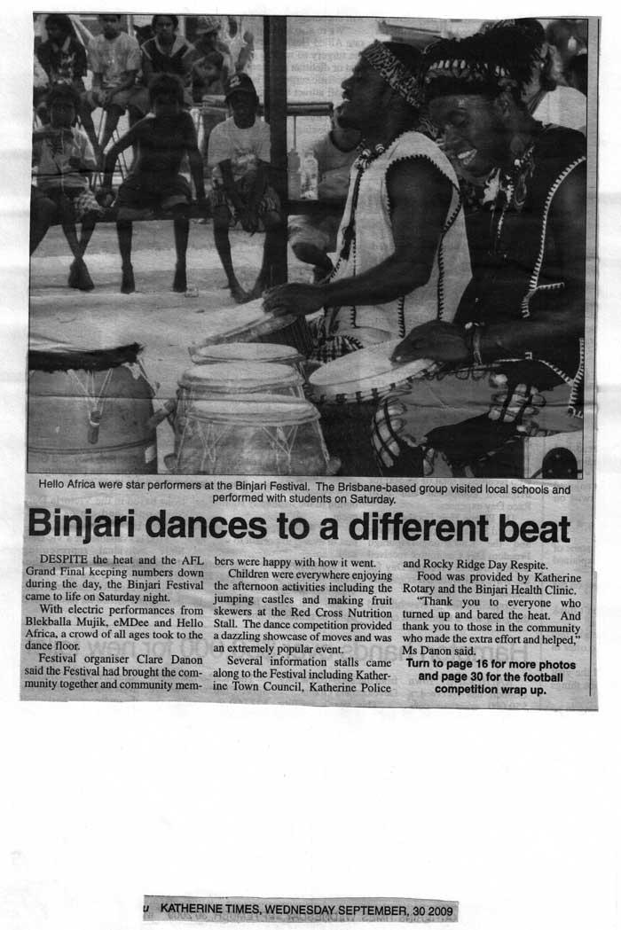 BINJARI DANCES TO A DIFFERENT BEAT
